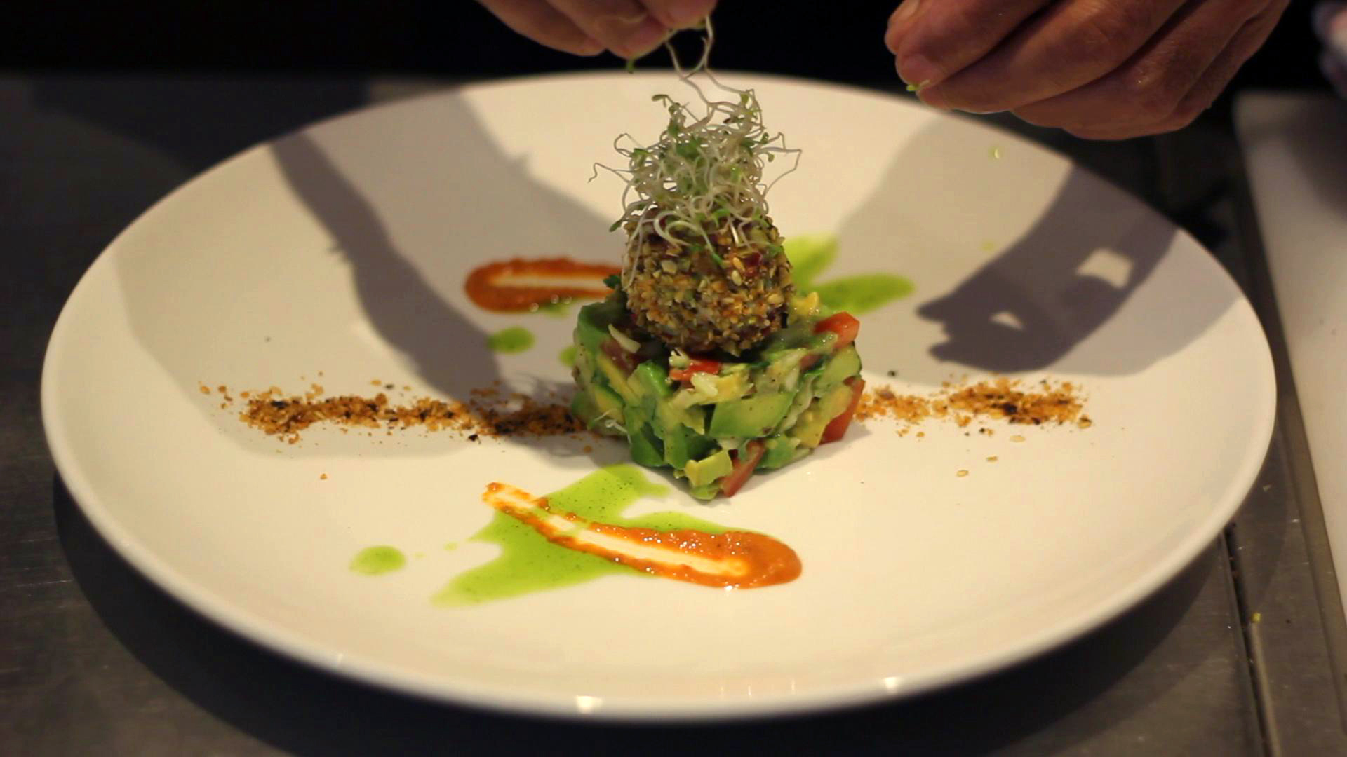 Raw Avocado and Cheese Appetizer from Fivelements Resort, Bali